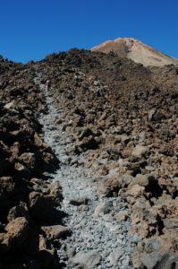 Lavagestein auf der Teide Wanderung