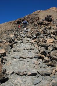 Aufstieg auf der Teidewanderung - Teneriffa