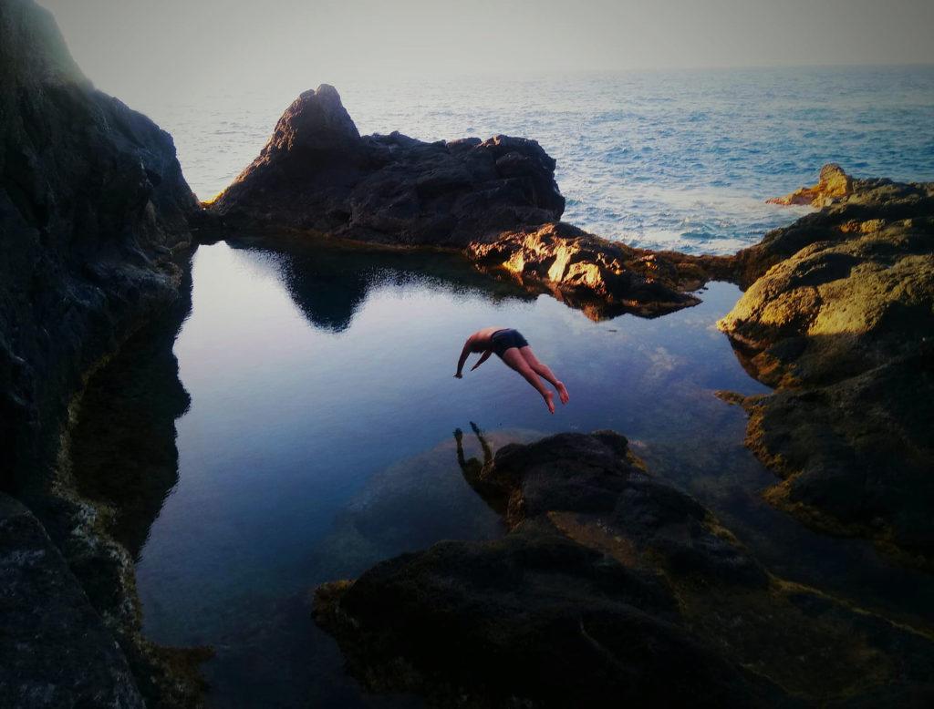 Naturschwimmbecken am Atlantischen Ozean